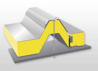 Střešní izolační panel pro vysoké zatížení PUR / PIR R04