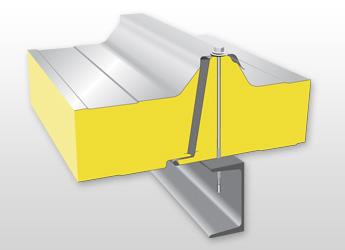 Střešní izolační panel PUR / PIR R02