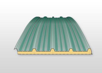 Střešní izolační obloukový panel PUR / PIR R06